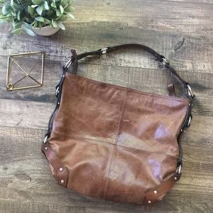 Tano Brown Leather Boogie Bag Satchel